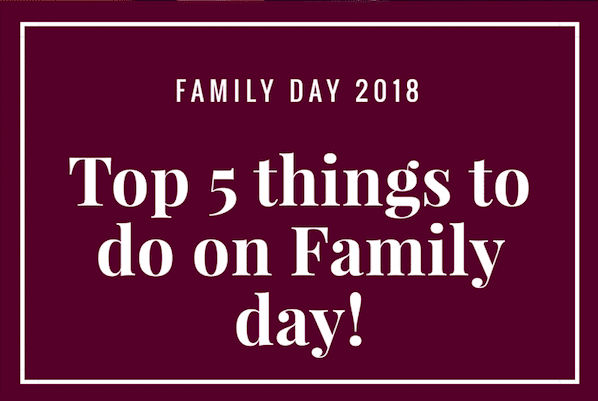 Top 5 things to do in Milton for Family Day 2018!