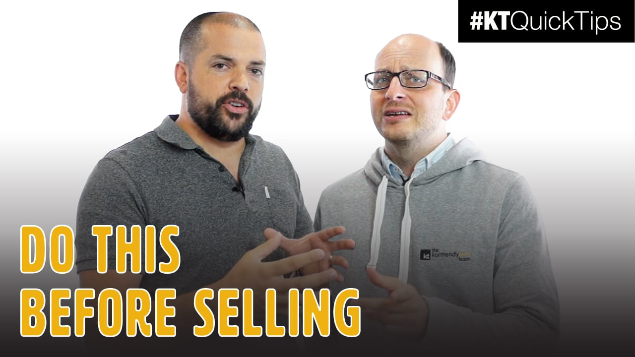 Do this before selling.