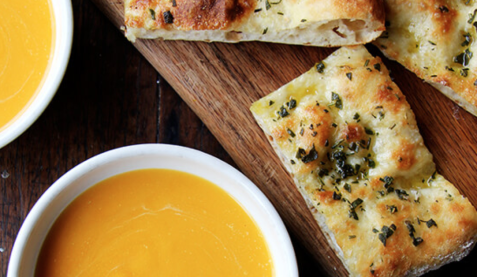 Flatbread and Soup